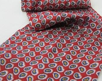 1960's Ascot Rayon Ascot Paisley Cravat Ascot Tie Scarf Neck Tie
