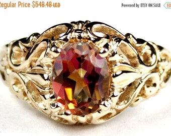 On Sale, 30% Off, Twilight Fire Topaz, 14KY Gold Ring, R113