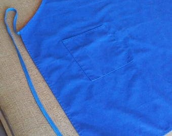 Full Apron...Royal Blue...Made in USA...Cotton blend...Restaurant style