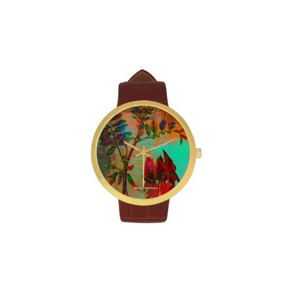 Botanical Sturt pea watch