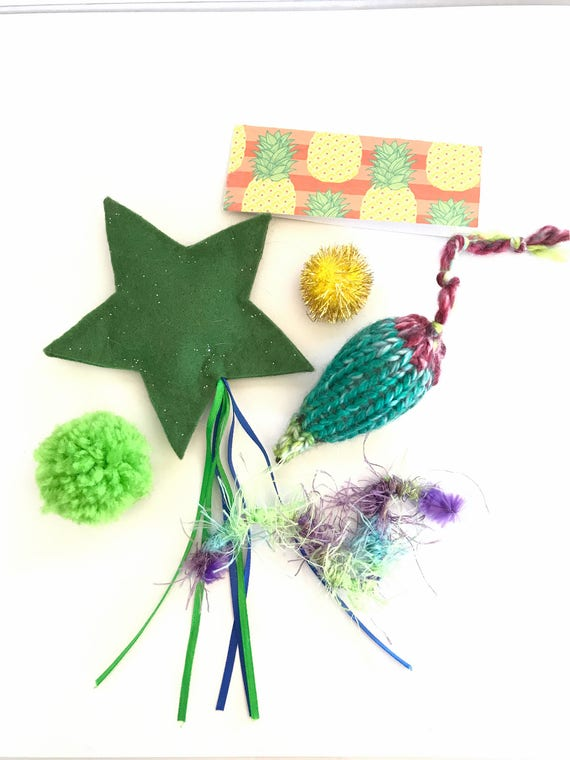 Green Cat Toys, Summer Pineapple Package, Mice Cat Toys, Ball Cat Toys, Cat Birthday, Gift for Cat, Cat Gifts, Valerian Cat Toys