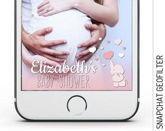 Elephant Baby Shower Snapchat GeoFilter, Elephant Geofilter Baby Shower, Elephant Baby Shower Geofilter, Elephant Snapchat Filter