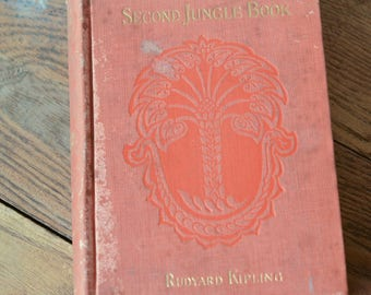 The Second Jungle Book, Rare Book, Rudyard Kipling, Rare Second Book