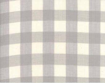 Three-Quarter Inch Checks in Grey Mist (Woven Fabric) by Jen Kingwell from the Behind the Scenes collection for Moda #18135-13 by 1/2 yard
