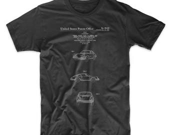 Sports Car Patent T Shirt, Sports Car, Car T-shirt, Unique Gifts for Dad, PP0144
