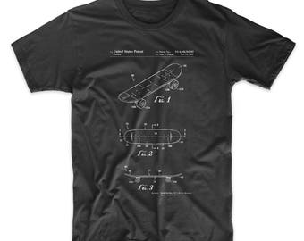Double Kick Skateboard Patent T Shirt, Skateboard Shirt, Skate Shirt, Skater Gift, PP0017
