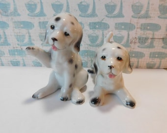 Vinatge Dalamation Puppy Salt and Pepper Shakers