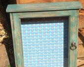Wall mounted cabinet hand painted home decor storage vintage rustic style