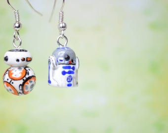 Star Wars Inspired Droid Earrings - BB-08 and R2D2