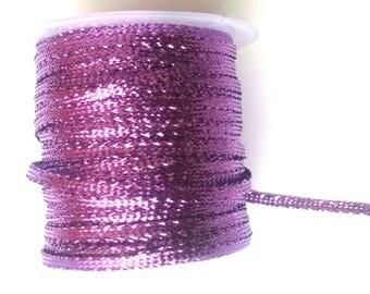 purple ribbons 4 meters brilliant 0.5 mm in width