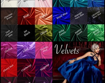 The CHERRYBOMB stretch velvet Fabric Swatch by Hardley Dangerous Couture