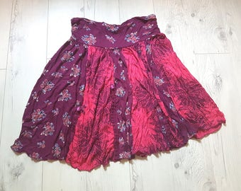 Spring summer skirt, large skirt, party, vintage, retro, birthday, cheap clothes, cheap gift, clothing, boho, womens, girls, gipsy skirt