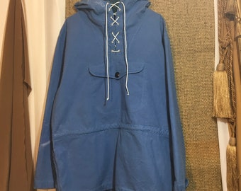 Vintage 1970's Anorak Pullover Parka Jacket With A Hood Size M