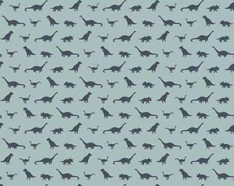Fossil Rim - Tiny Dino Blue by Deena Rutter for Riley Blake Designs, 1/2 yard, C6614-Blue