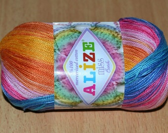 Summer yarn Alize MİSS BATİK. Mercerized cotton.