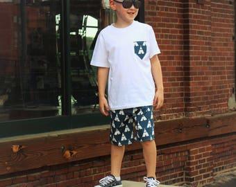 Boys Shorts Outfit, Boys' Clothing, Baby Boy Outfit, New baby boy outfit, Boys Summer Outfit, tee pee outfit, toddler boys outfit, Shorts