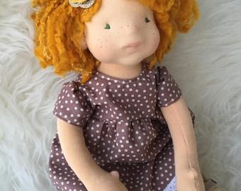 Réservée pour Sylvie Pingard -Waldorf Doll 35cm FREE SHIPPING
