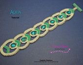 Tutorial Aqua Bracelet - beading pattern