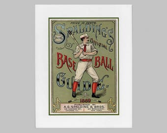 Copy of vintage baseball poster advertisement on foam board
