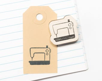 Rubber stamp sewing machine, sewing stamps, gift for seamstress, stamp sewing materials, creative gift packaging, craft supplies, stationery