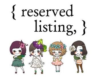 reserved listing for Michelle Mangrum