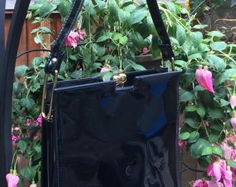 Vintage 1960's Theodor of California Black Kelly Handbag