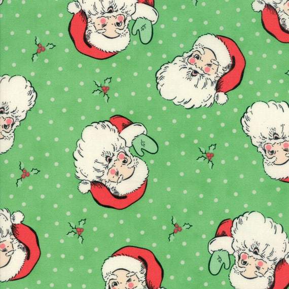 Swell Christmas Fabric Collection 1 Yard Christmas Santa