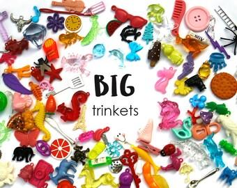 BIG I spy trinkets for I spy sensory bins, Kids crafts, Learning activities, Miniatures, no doubles, 3-7cm, Set of 20/50/100