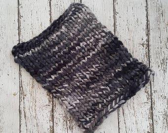 "Chunky knit baby blanket car seat blanket merino superwash monochrome free shipping ready to ship 16"" x 21"""
