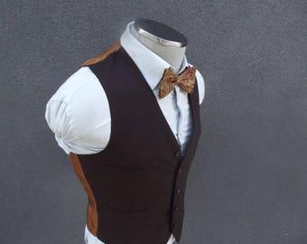 1970s Vintage Brown Vest / Brown Waistcoat Size 36 Small  / Mens Suit Vest / 70s Vintage Waistcoat Vtg