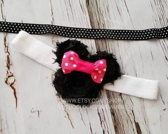 Customizable Minnie Mouse Inspired Headband, Minnie Mouse Headband, Minnie Headband, Minnie Party, Minnie Birthday, Minnie Mouse Costume