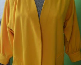 Vintage YSL Yves Saint Laurent Golden yellow coat
