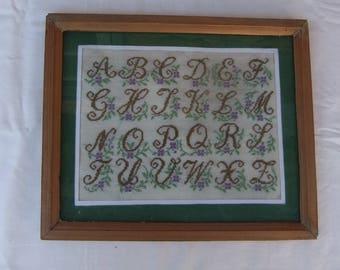 Latin Аlphabet Embroidery-Wall Decor