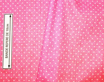 Fabric bright pink cotton with dots (in multiples of 20cm)