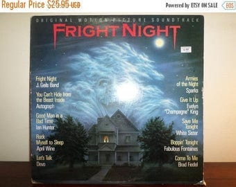Save 30% Today Vintage 1985 Vinyl LP Record Fright Night Soundtrack Very Good Condition 11277