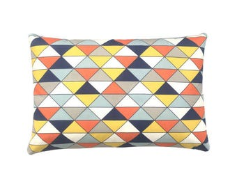 Pillowcase DIMENSION triangles nature yellow blue orange 40 x 60 cm