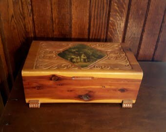 Wood jewellery box Etsy