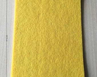Coupon of Buttercup yellow felt with Gold 3 mm thick