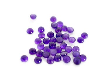 1 Amethyst (African) Cabochon Round 5mm - 1 Natural Gemstone Cabochon, Jewellery Supplies