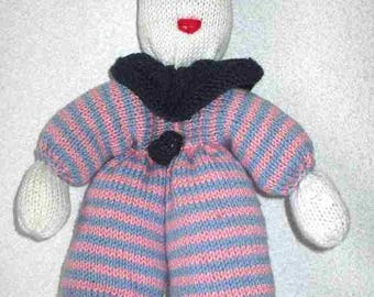 Plush character toy kids knitting pattern