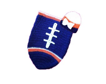 Chicago Fan Favorite Baby Girl Football Cocoon & Hat (Newborn to 3 months)