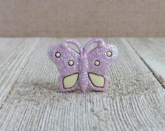 Butterfly - Glitter - Purple - Fly - Freedom - Beautiful - Renew - Lapel Pin
