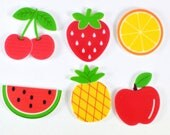 Fruit Planar Resin Cabochon Flat back Embellishments Apple Pineapple Strawberry cherry FP1126
