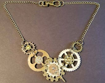 Steampunk Gears/Victorian necklace