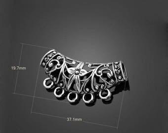 X 1 5 Tibetan silver pendant holder hole