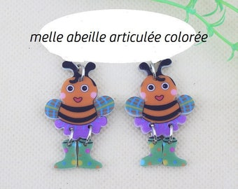 X 1 acrylic colorful articulated bee