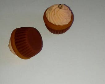 X 1 large cupcake fimo mango