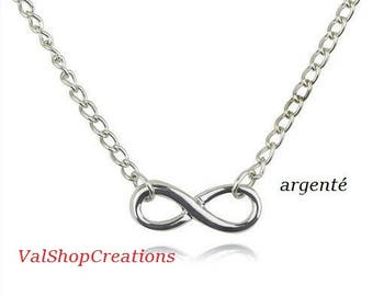Silver infinity symbol necklace