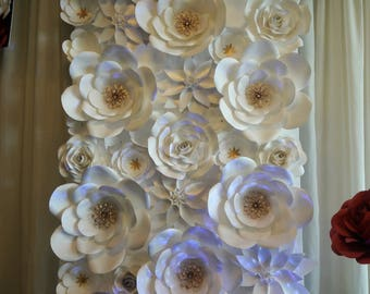Paper Flower Wall Custom Colors Available 4 X 8, 8 x 8, 12 x 8