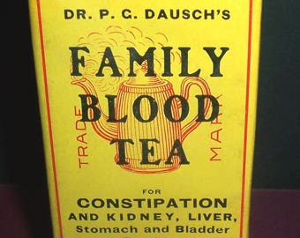 Circa 1907 Dausch's Family Blood Tea sealed package
